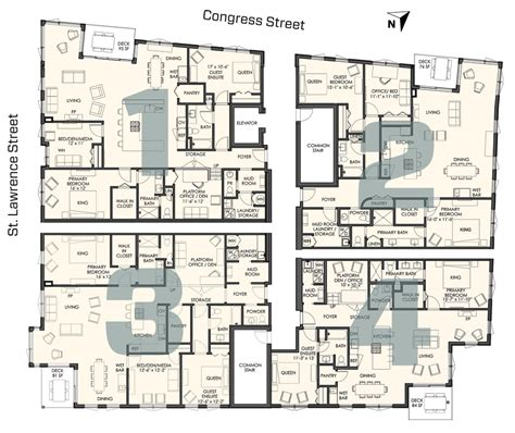 building floor plan four different floor plans 118onmunjoyhill 118onmunjoyhill