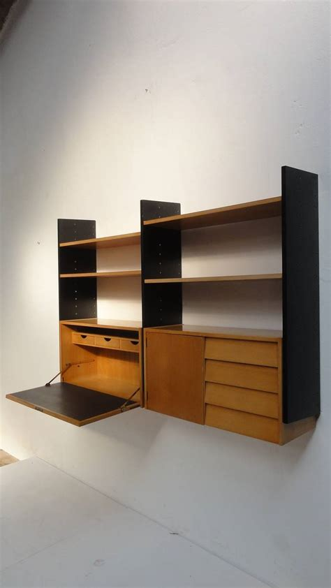 wall unit with desk scandinavian mid century modern modular wall mounted desk or storage unit at 1stdibs