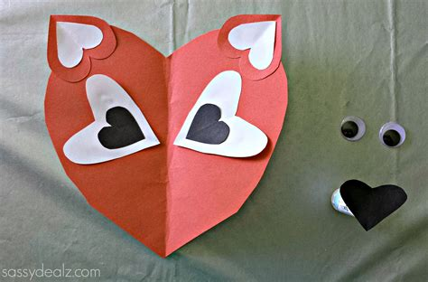 paper hearts crafts paper fox craft for crafty morning