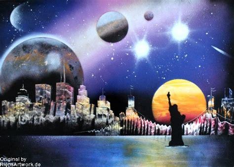 City Skyline Spray Paint Photopaper By Riensartwork