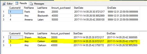 sql query to change table name compare sql server temporal tables change data capture
