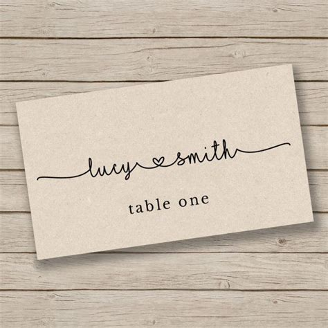 how to make table name cards 25 best ideas about place card template on