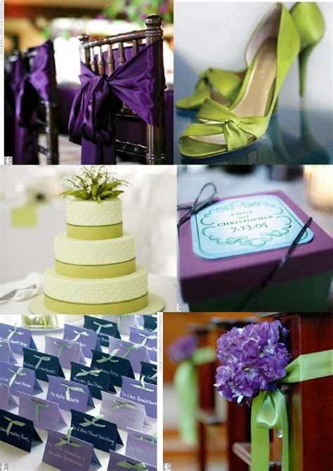 purple and green decorations anyone lime green purple colour theme wedding