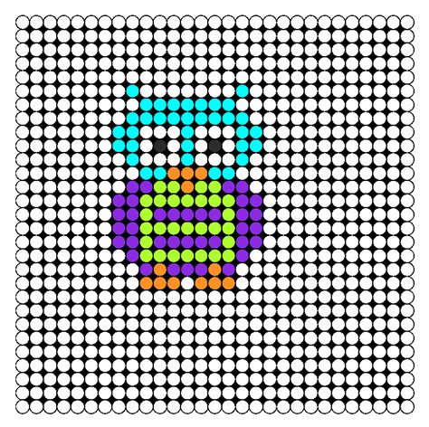 owl pony bead pattern kandi patterns for kandi cuffs animals pony bead patterns