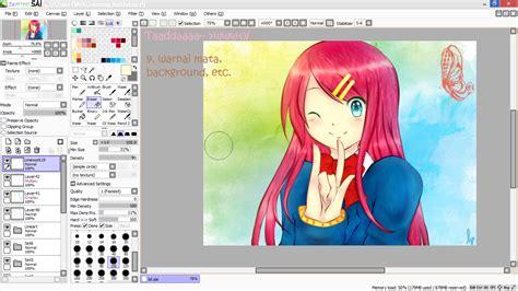 tutorial paint tool sai menggunakan mouse tutorial paint tool sai tutorial mewarnai anime di paint