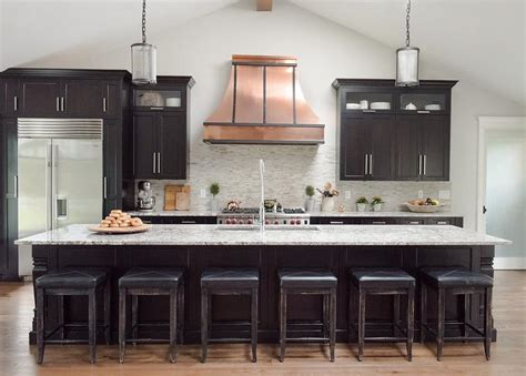 black kitchen cabinet black kitchen cabinets with copper