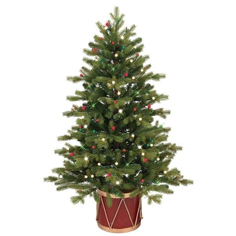 lowes pre lit artificial tree ge 4 ft pre lit colorado spruce slim artificial