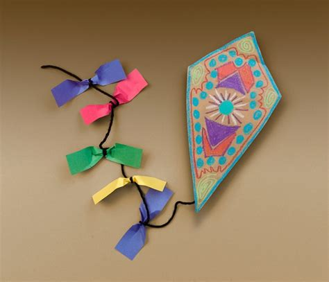 march arts and crafts for colorful kites craft crayola