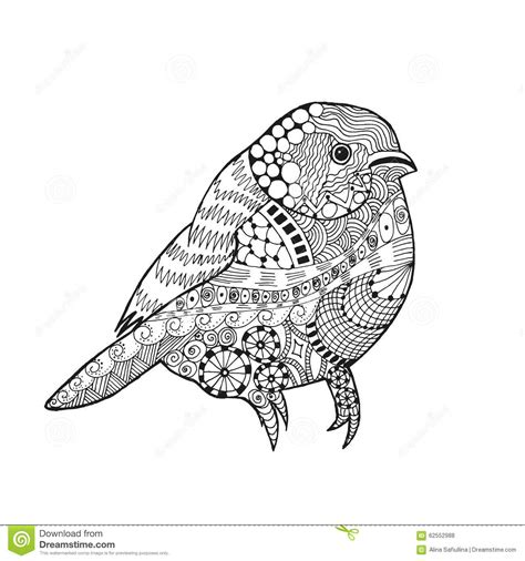 zentangle gestileerde vogel vector illustratie