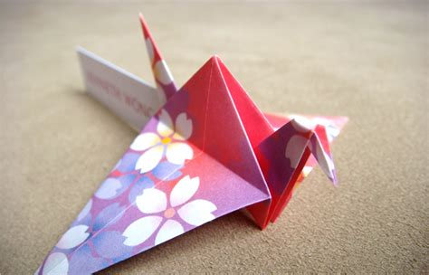 origami place card pink orchid weddings beautiful place cards origami cranes