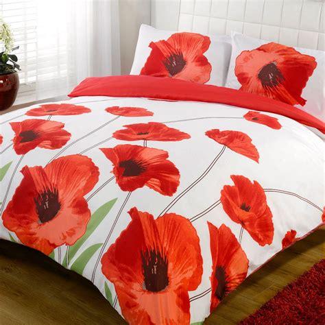 poppy comforter set amapola white poppy floral bold print duvet quilt
