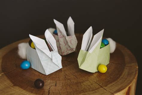 origami easter bunny basket 31 diy easter hacks for the whole family design bump