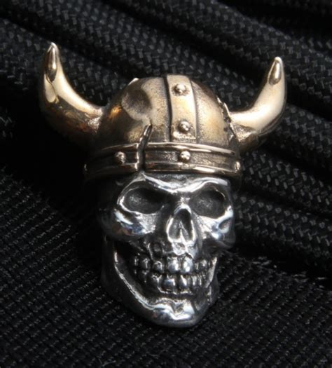sterling silver skull gd skulls viking sterling silver skull with bronze helmet