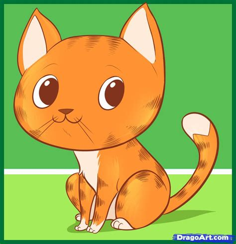 cat easy how to draw an easy cat step by step pets animals free