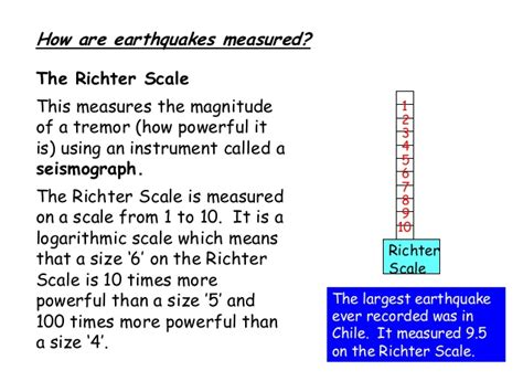 how are measured earthquakes and richter scale