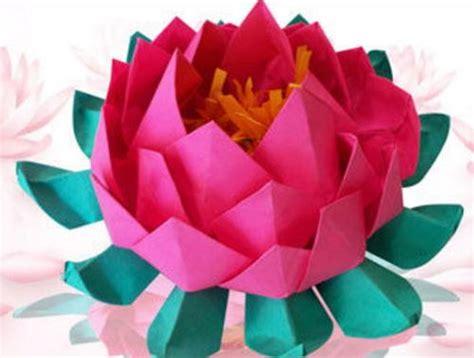 easy origami lotus unique and easy origami lotus allfreepapercrafts