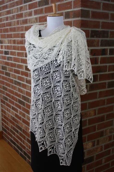 knit scarf pattern lace quatrefoil lace scarf by rukodelnitsa craftsy