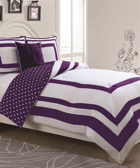 purple polka dot comforter sets purple polka dot reversible comforter set contemporary