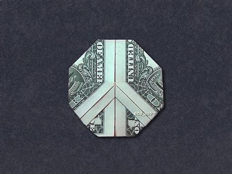 origami sign 1000 ideas about money origami on dollar