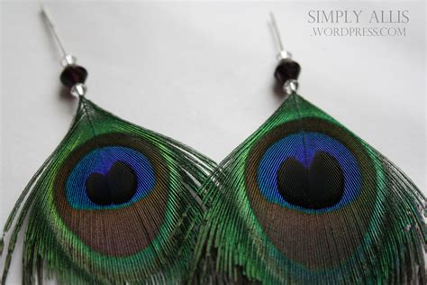 how to make feather jewelry peacock feather earrings diy simply allis