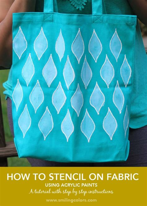 acrylic paint in fabric how to stencil on fabric with acrylic paints smitha katti