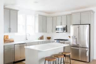 light grey shaker kitchen light grey shaker kitchen cabinets with white quartz