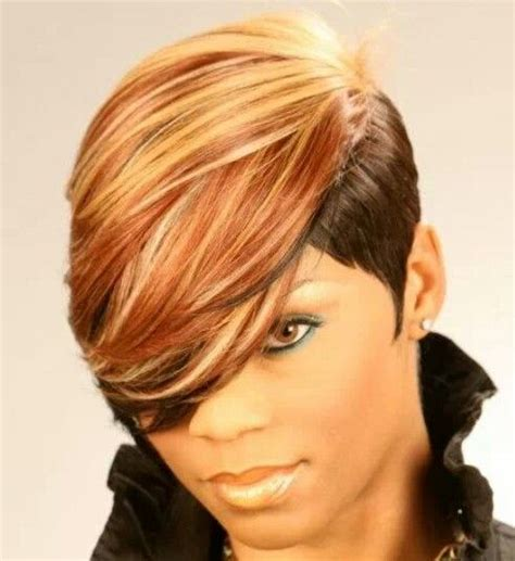 hair pieces to wear with fo hawk hairstyle 112 best images about short weave styles on pinterest