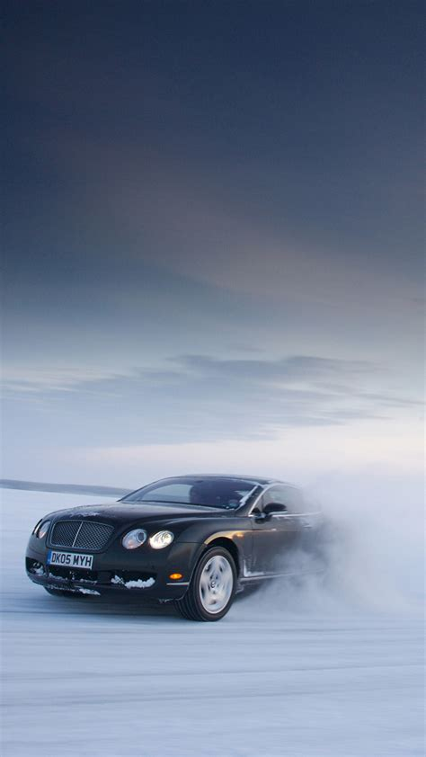 Car Wallpaper Hd Portrait by Wallpapers For Galaxy Bentley Continental Gt On Snow For