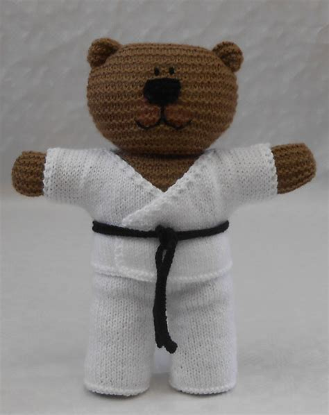 this is a karate not a knitting class knit karate suit forteddy knitting pattern pdf for