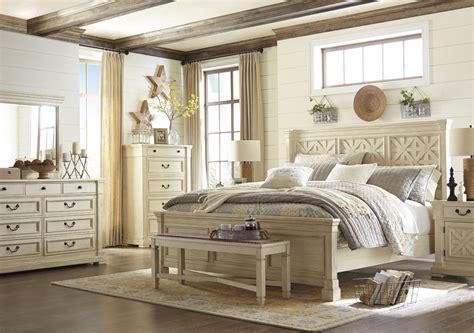 louvered bedroom furniture bolanburg white louvered panel bedroom set b647 54 77 96