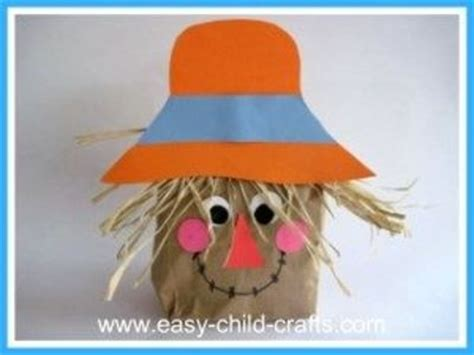 scarecrow paper bag craft paper bag scarecrow craft preschool items juxtapost