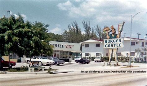 Castle In Miami 1972 burger castle on nw 7th street miami photo don