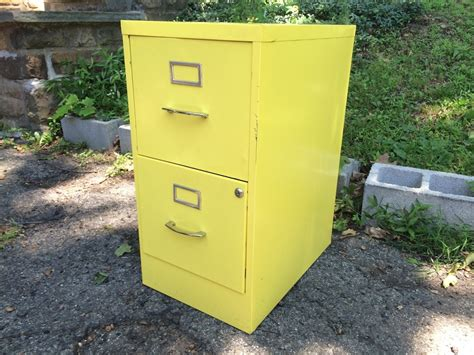 metal file cabinet 2 drawer yellow two drawer metal filing cabinet attainable vintage