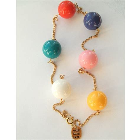 multi coloured bead necklace multi coloured chunky bead necklace by in a teacup