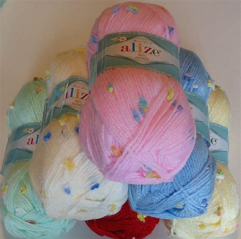 knitting wool for babies alize baby flower pretty knitting and crochet yarn for