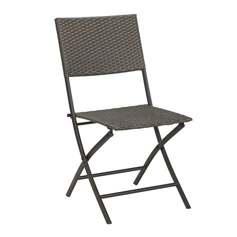 Armless Folding Chair by Garden Oasis Resin Wicker Folding Chair Armless Limited