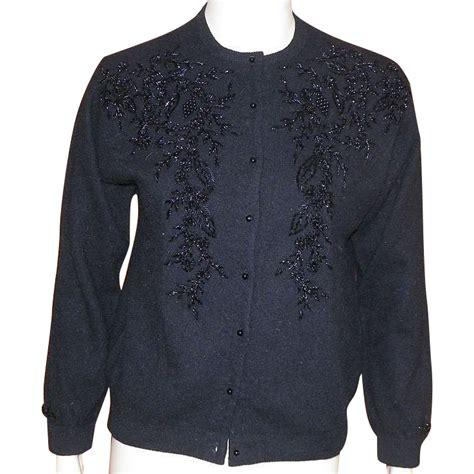 beaded cardigan vintage black beaded cardigan sweater hong kong 1960 s