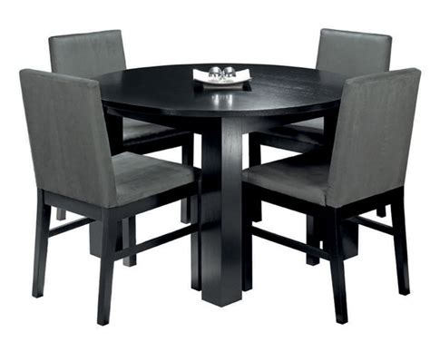 black dining tables and chairs cuba black circular dining table 4 upholstered dining chairs