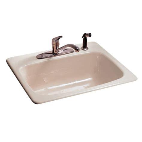 american standard cast iron kitchen sink american standard 7072 804 white heat drop in single bowl