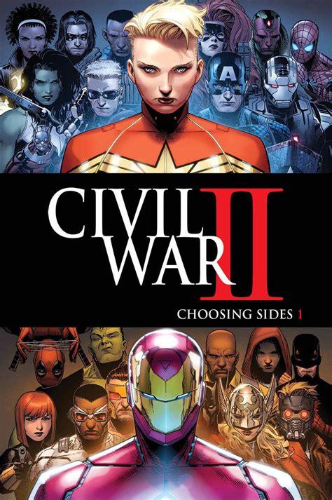 civil war ii marvel unveils its civil war ii tie ins nerdist