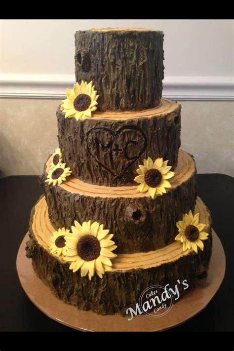 cake tree decorations tree stump fall cake cakes fall cakes sun