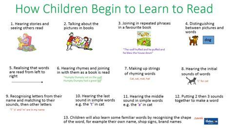 to read how children learn to read osborne nursery school