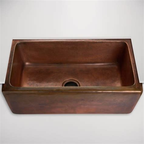 kitchens with copper sinks normandy hammered copper farmhouse kitchen sink