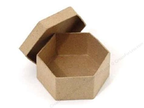 craft paper boxes paper mache mini hexagon box by craft pedlars 36 pieces