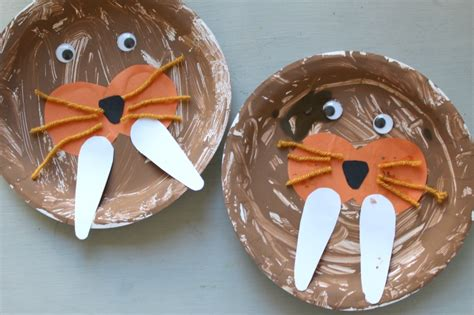walrus paper plate craft walrus craft for crafts on sea