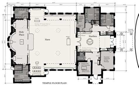 Floor Plans Texas st john church temple jackson galloway architects