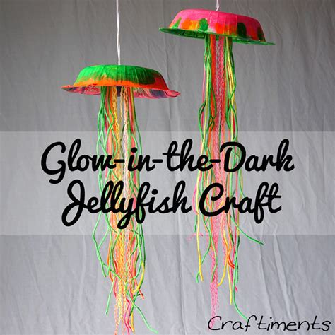 sting paper crafts glow in the jellyfish think crafts by createforless