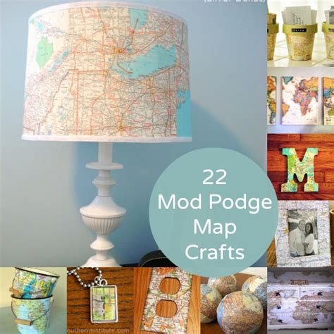 mod podge crafts for 22 mod podge map crafts you ll mod podge rocks