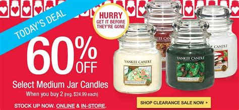Candle Sale by Yankee Candle Sale Save 60 Medium Jar Candles Today