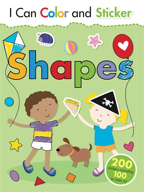 picture books about shapes i can color and sticker shapes book by gemma cooper